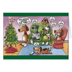 Funny Christmas Dog Card at Zazzle