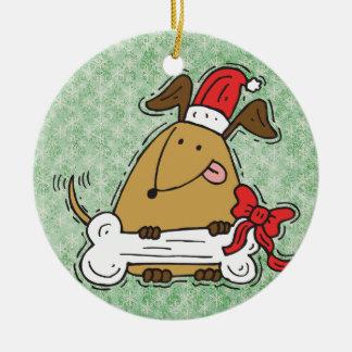Funny Christmas Dog Ornament