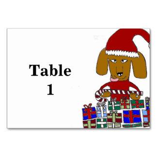 Funny Christmas Dog Table Cards
