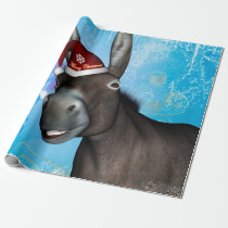 Funny christmas donkey wrapping paper