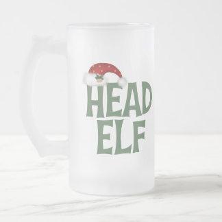 Funny Christmas Elf Frosted Mug