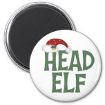 Funny Christmas Elf Magnet