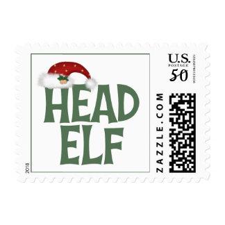 Funny Christmas Elf Postage