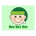 Funny Christmas Elf Postcard