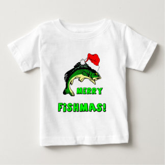 Funny Christmas fishing Baby T-Shirt