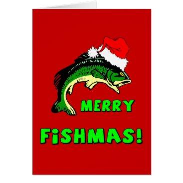 Christmas Themed Funny Christmas fishing Card