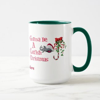 Funny Christmas Fishing ♫♥ Catfish Christmas Mug