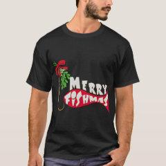 Funny Christmas Fishing  -Merry Fishmas T-Shirt