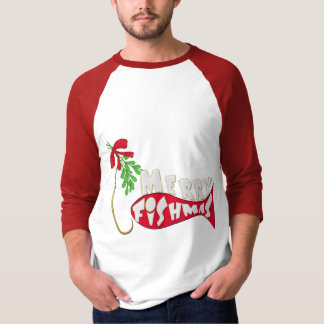 Funny Christmas Fishing Shirt -Merry Fishmas