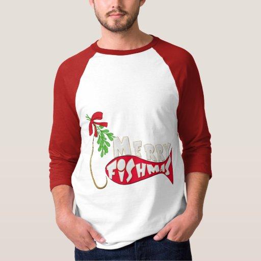 Funny Christmas Fishing Shirt -Merry Fishmas