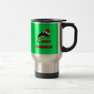 Funny Christmas fishing Travel Mug