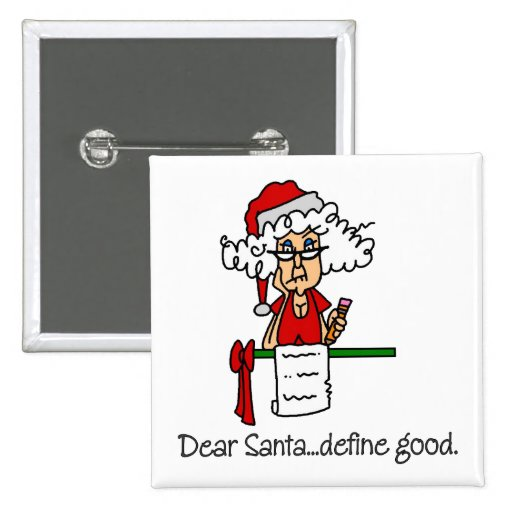 Funny Christmas Gift 2 Inch Square Button