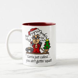 Funny Christmas Gift Two-Tone Coffee Mug