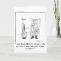 "Funny Christmas Greeting Card ""Pandemonium"""