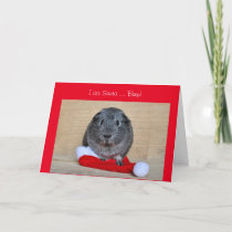 Funny Christmas Guinea Pig ate Santa customized Holiday Card