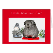 Funny Christmas Guinea Pig ate the Tree customized Card