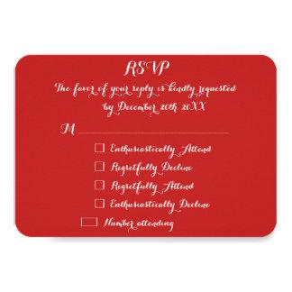 Funny Christmas Holiday Wedding Custom RSVP Invite