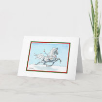 Funny Christmas Horse Card