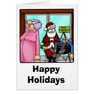 """Funny Christmas Humor Greeting Card """"Spectickles"""""""