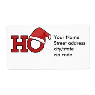 Funny Christmas Humor Personalized Shipping Labels