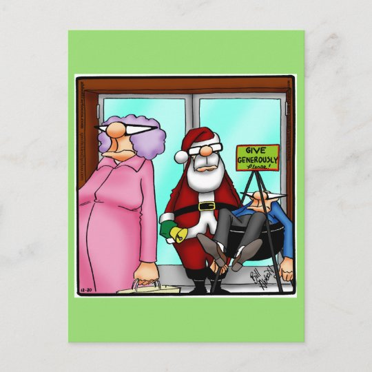 Funny Christmas Humor Postcard Spectickles | Zazzle.com