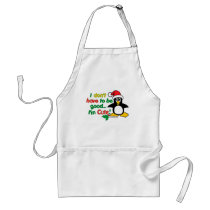 Funny Christmas I don't have to be good I'm cute! Adult Apron