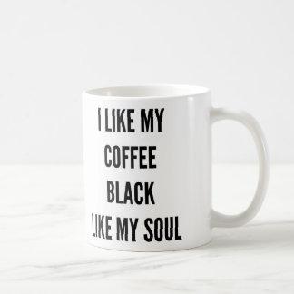 Funny Christmas I like my coffee black like my Coffee Mug