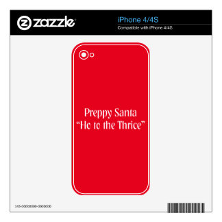 Funny Christmas Item.  Santa Claus Joke. Decals For The iPhone 4S