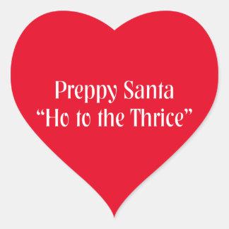 Funny Christmas Item.  Santa Claus Joke. Heart Sticker