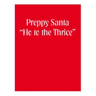 Funny Christmas Item.  Santa Claus Joke. Postcard