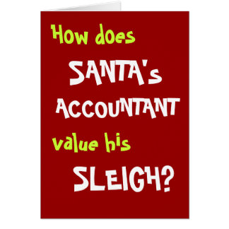 Funny Christmas Joke Card for Accountant or Client