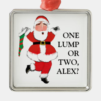 funny Christmas Metal Ornament
