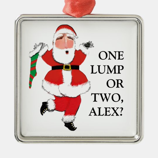 funny Christmas Metal Ornament