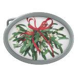 Funny Christmas Mistletoe Belt Buckle