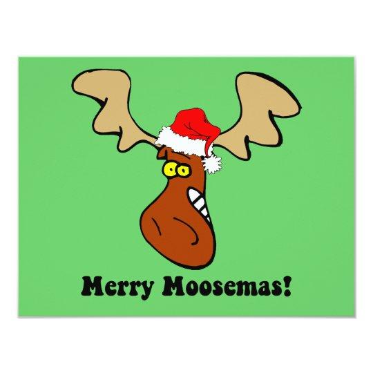 Funny Christmas moose Card