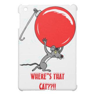 Funny Christmas Mouse Cartoon iPad Mini Cover