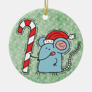 Funny Christmas Mouse Ornament