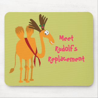 Funny Christmas Mousepad - Camel in Reindeer Suit