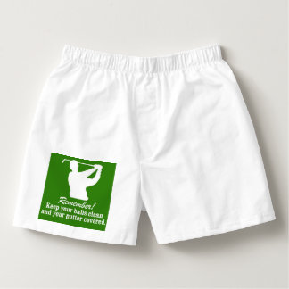 Funny Christmas Naughty Golf balls clean Boxers