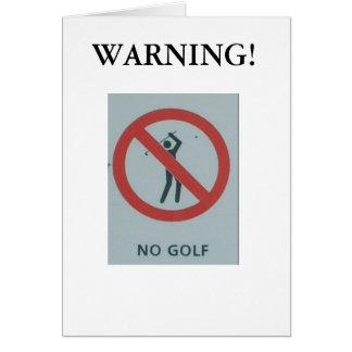 "Funny Christmas ""No Golf"" card. Card"