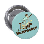 Funny Christmas Nutcracker 2 Inch Round Button