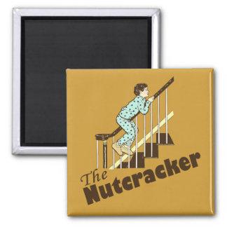 Funny Christmas Nutcracker 2 Inch Square Magnet