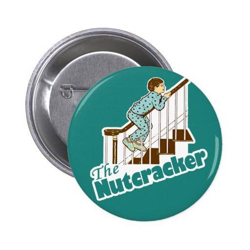 Funny Christmas Nutcracker Button