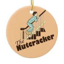 Funny Christmas Nutcracker Ceramic Ornament
