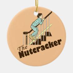 Funny Christmas Nutcracker Ceramic Ornament at Zazzle