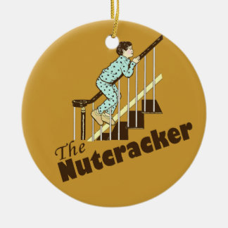 Funny Christmas Nutcracker Double-Sided Ceramic Round Christmas Ornament