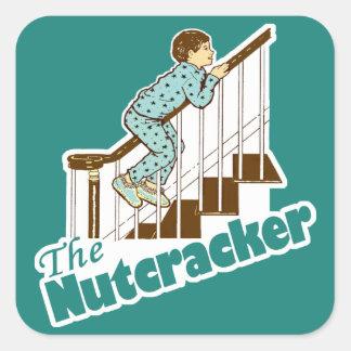 Funny Christmas Nutcracker Square Sticker