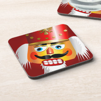 Funny Christmas Nutcracker Toy Soldier Drink Coaster