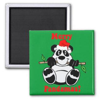 Funny Christmas Panda Bear Magnet