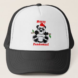 Funny Christmas Panda Bear Trucker Hat
